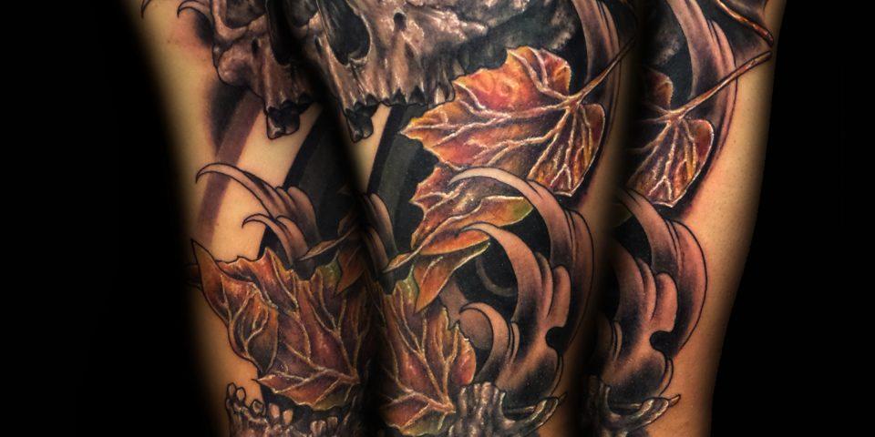 Jason Adkins – skull-leaf-water- 8 x 10 300 dpi