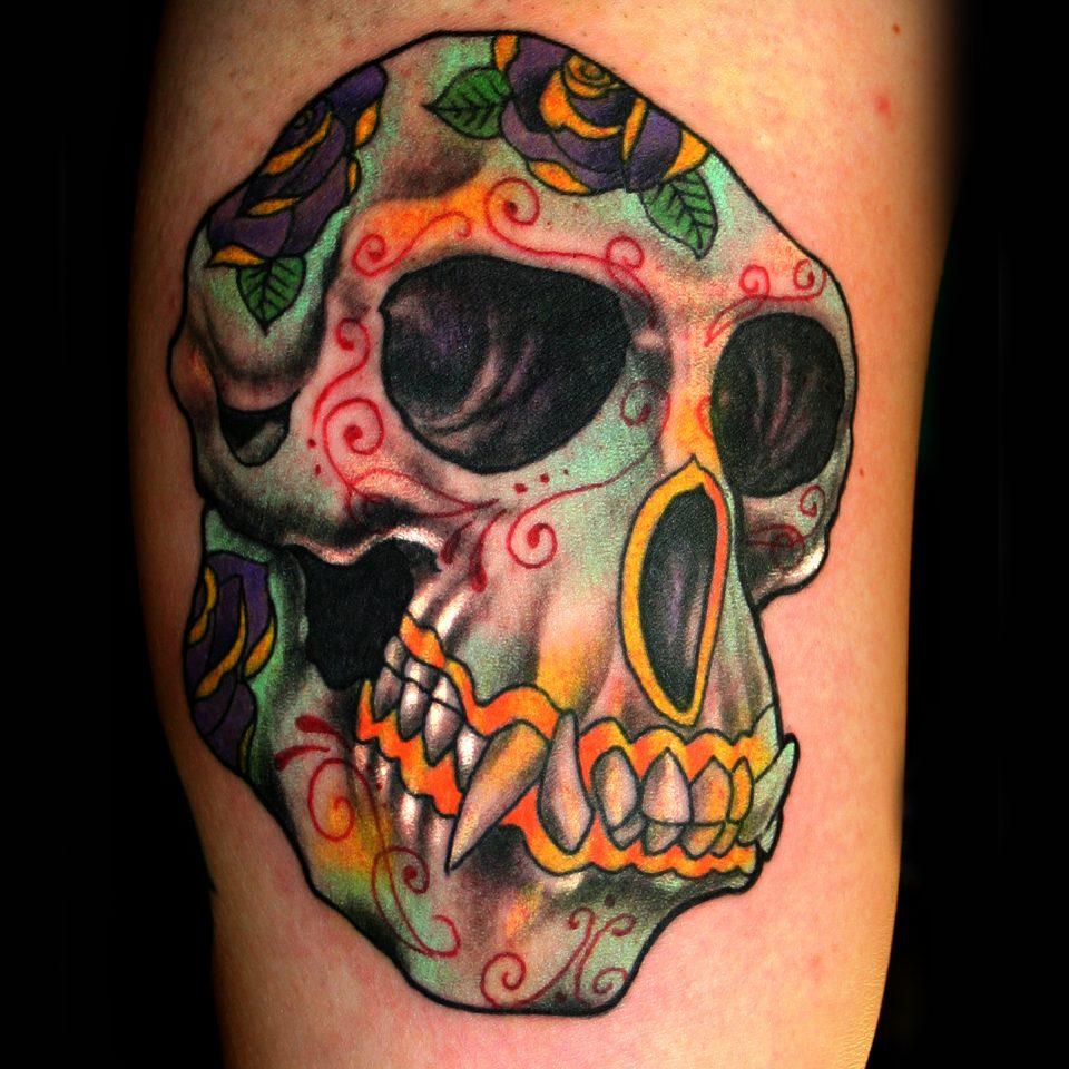 painted monkey skull 8×10 300 dpi
